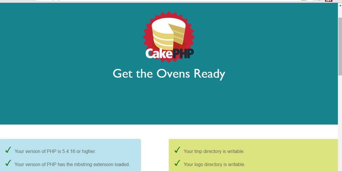 instalasi cakephp 3 berhasil