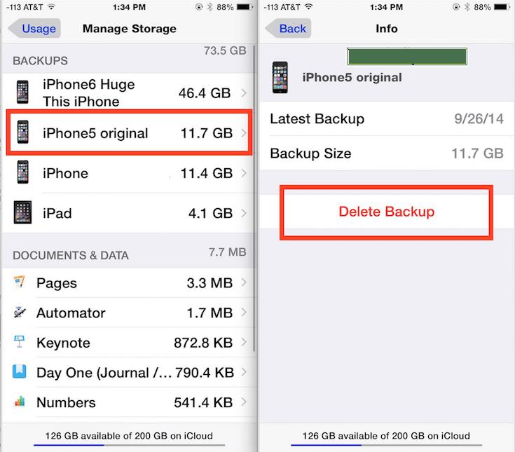 akses backup icloud lama di iphone