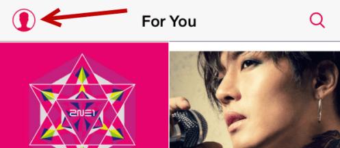 klik ikon profile apple music