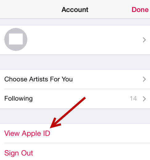klik view apple id